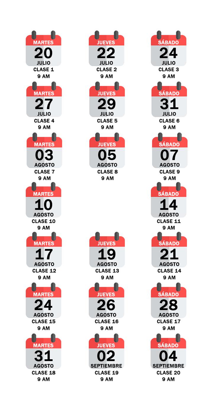 Calendario de clases Calculo