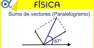 Miniatura Suma de vectores por el método gráfico del paralelogramo y polígono