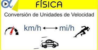 Unidades de velocidad